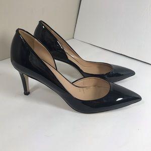 J. Crew Valentina black patent d'orsay pumps